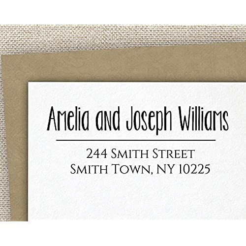 durable service personalized self inking stamp return address