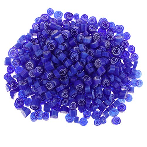 CUTICATE 100g/Pack Fusible Glass Beads Lampwork Charms for DIY Jewelry, Earring, Bracelets, Necklace Making Supplies, Kiln Microwave Supply - Blue