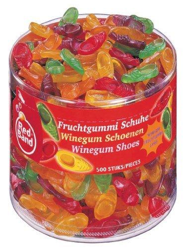 Red Band Fruchtgummi Schuhe 500St Mit natürlichen Farbstoffen