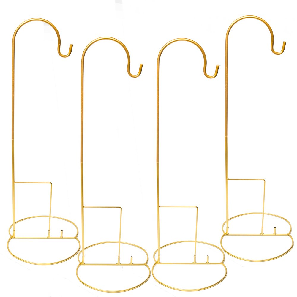Eastland Gold Shepherd Hooks and Gold Simple Shepherd Hook Base 48'' Set of 40 by Eastland