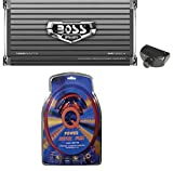 BOSS AUDIO AR1600.4 1600W 4 Channel Car Amplifier AR16004+Remote+4 Ga Amp Kit