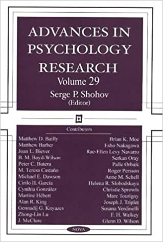 Advances in Psychology Research: S. P. Shohov: 9781590339213: Amazon.com: Books