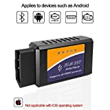 Car ELM327 Bluetooth OBD2 Scanner Auto Diagnostic Scan Tool Vehicle OBDII Fault Code Reader Check Engine Light Adapter for Android Phone Devices,Compatible with Torque Pro APP