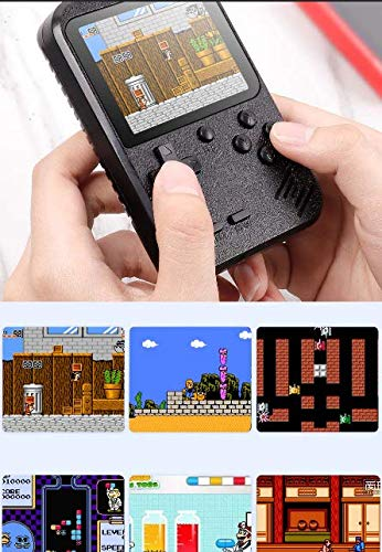 Retro Portable Mini Handheld Game Console 8-Bit 2.8 in Color LCD Screen Kid Video Handheld Game Player Built-in 400 Games on TV by Button cotton (Image #2)