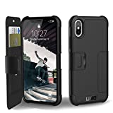 UAG Folio iPhone X Metropolis Feather-Light Rugged [BLACK] Military Drop Tested iPhone Case