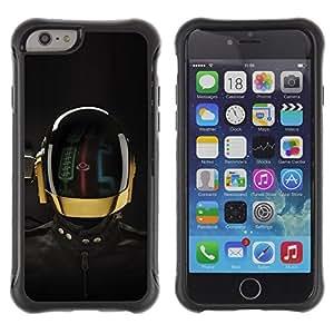 """Pulsar iFace Series Tpu silicona Carcasa Funda Case para Apple (4.7 inches!!!) iPhone 6 , Robot espacial Traje Casco Rally Futurismo Tech"""""""