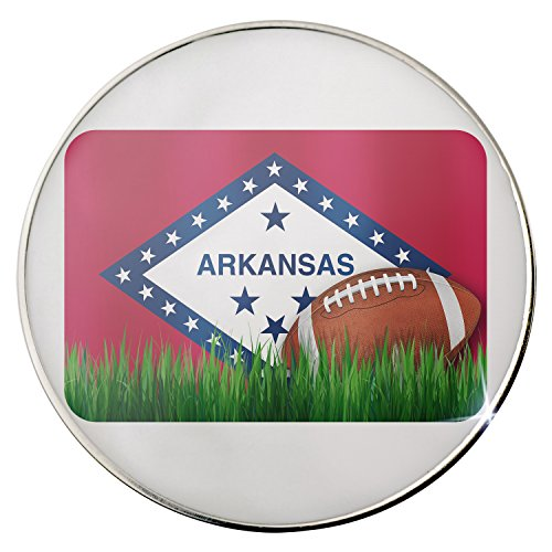 Floating Plate Charm for Glass Locket - Football with Flag Arkansas region America (USA) backplates by - Backplate Football America