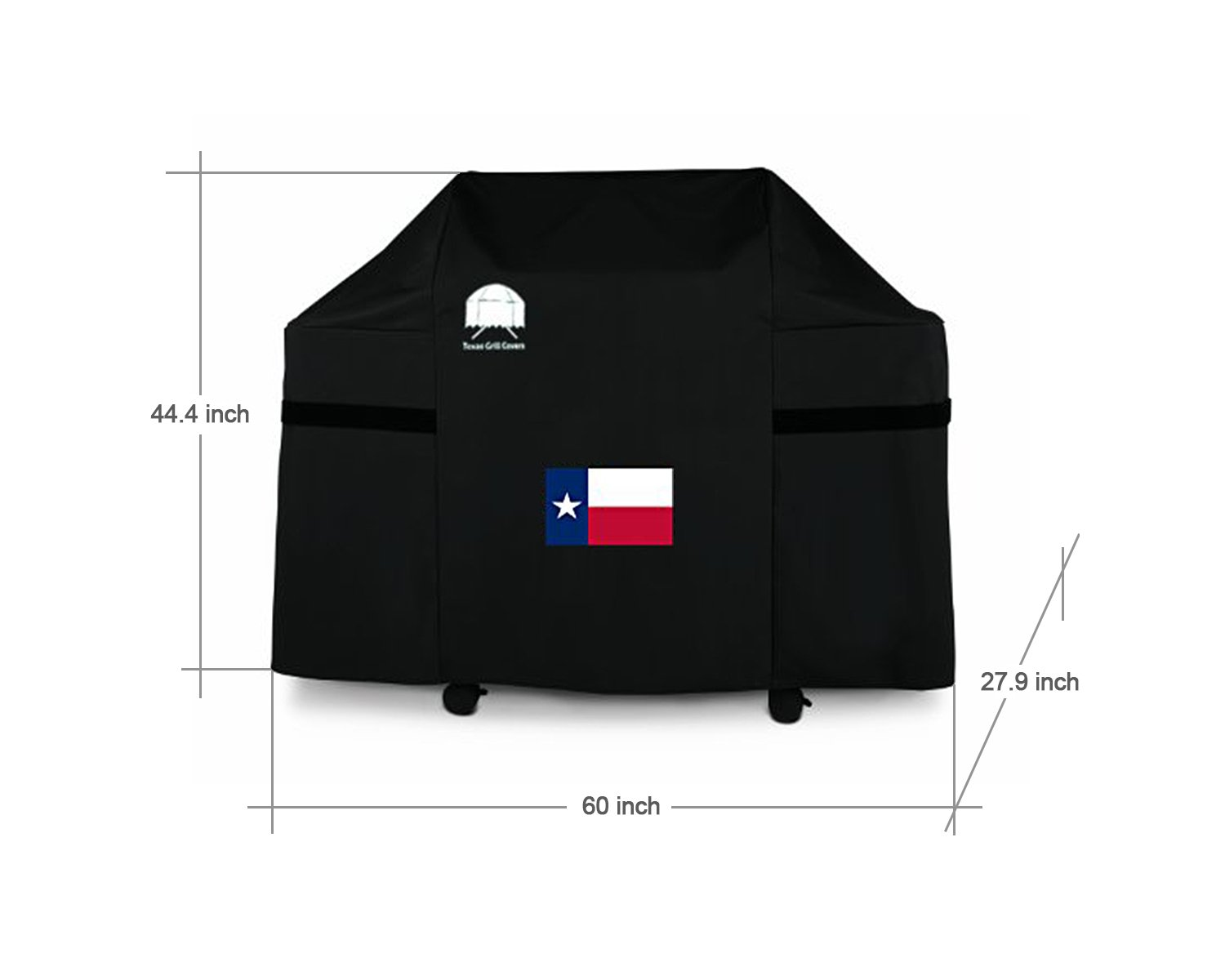 Texas Grill Covers 7553 | 7107 Premium Cover for Weber Genesis E and S Series Gas Grills with USA Flag Design Including Brush and Tongs (with Texas State Flag) by Texas Grill Covers