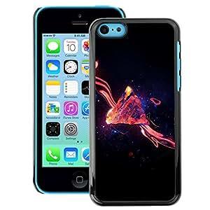 Snap-on Series Teléfono Carcasa Funda Case Caso para iPhone 5C , ( Space Galaxy Swirl )