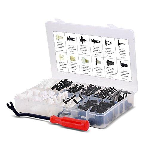 AFA [166 Pcs] Toyota Trim Clips Set - Most Popular Sizes & Applications - Free Fastener Remover (Set Retainer Clip)