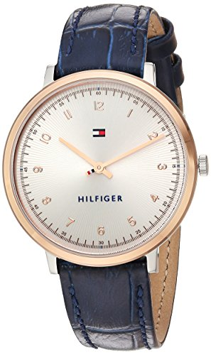 Tommy Hilfiger Women's 'SPORT' Quartz Gold and Leather Casual Watch, Color Blue (Model: 1781764)