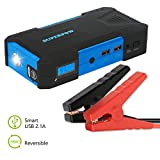 Automotive : Superpow 800A Peak 18000mah Car Jump Starter Battery Booster Portable Power Bank with Phone Charger(up to 6.5L Gas, 5.2L Diesel Engine)