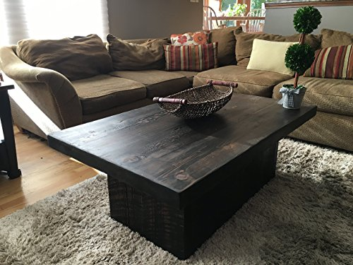 "Reclaimed Urban Wooden Coffee Table - Made From Salvaged Barn Wood - Fast Shipping - 48""L x 30""W x 18""H 2.5 inch thick wood 