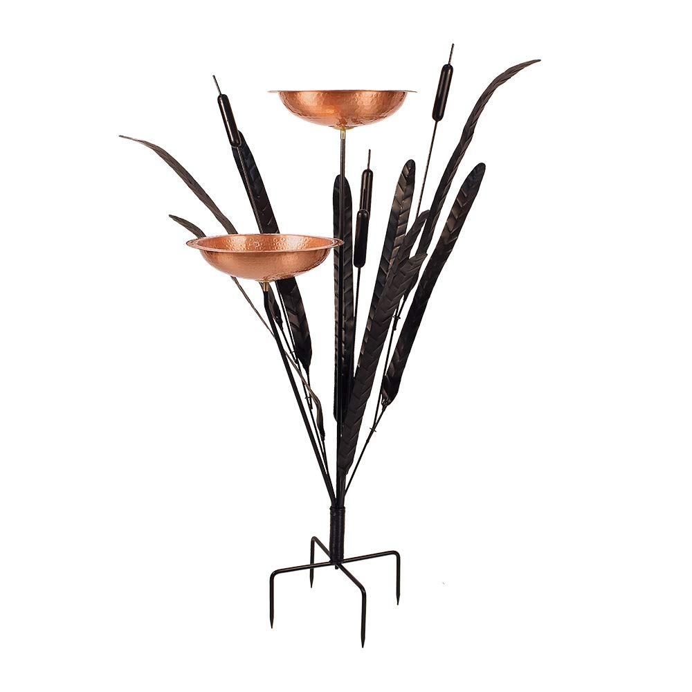 Achla Designs Home and Garden Innovations CTBB01 Cattail Style Bird Bath