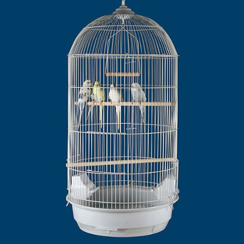 Princeville Palace Bird Cage - 18''W x 14''D x 34''H - White by BirdCages4Less