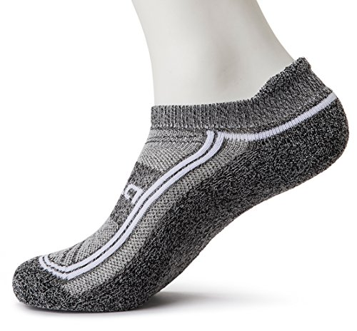 Tesla TM-MZS06-YKW_Medium Men's 6-Pairs Atheltic No Show Socks Cushioned Comfort w Mesh MZS06