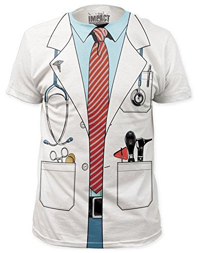 [Doctor Costume Tee (slim fit) T-Shirt Size XL] (Doa Rachel Costumes)