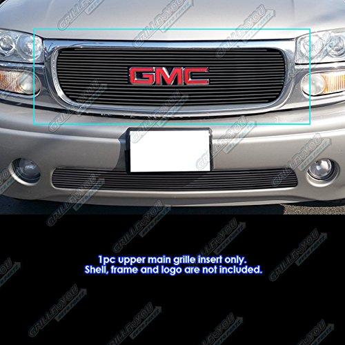 APS Compatible with 1999-2002 GMC Sierra 1500 2500 2001-2006 GMC Yukon Black Billet Grille Insert G65703H