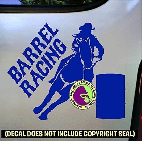 BARREL RACING Rodeo Racer Horse Rider Vinyl Decal Sticker B