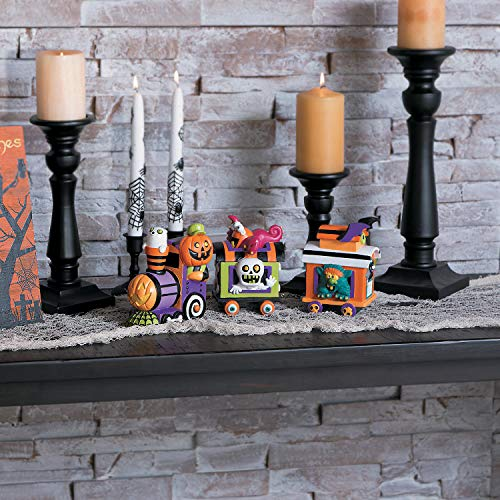 Fun Express - Monster Halloween Train for Halloween - Home Decor - Figurines - Molded - Halloween - 3 Pieces ()