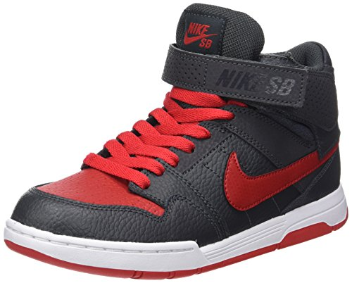 2 NIKE Mogan University Skateboarding Kids' Shoes Jr Red Mid Anthracite White FrqFx6wat