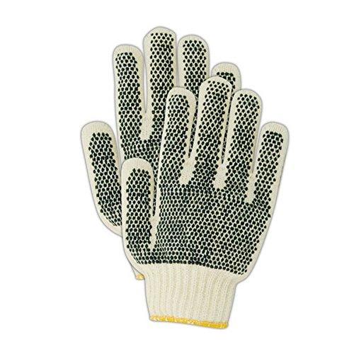 Magid Glove & Safety N93CPR Magid MultiMaster N93PR/ Nitrile Dot Reversible String Knit Glove, Men's (Fits), Natural, Ladies (Fits Medium) (Pack of 12)