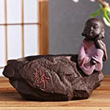 DW&HX [creative] purple clay tea favors [decoration] little monks [decoration] tea accessories-C
