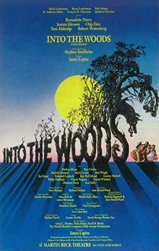 amazon com into the woods broadway poster 14 x 22 posters
