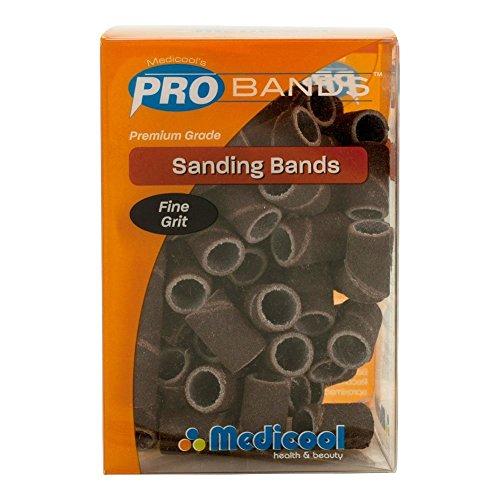 Fine Mandrel (Medicool Sanding Bands Box/90pcs + Free Mandrel 3/32 - (FINE GRIT))