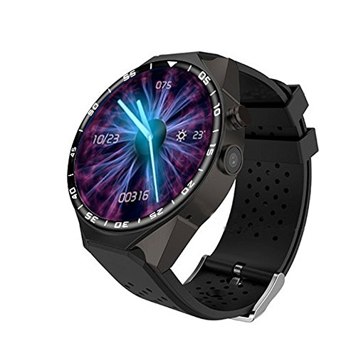 ZGPAX S99C 1.39 inch IPS Screen 3G WIFI Phone Watch MTK6580 Quad Core 1GB+16GB Memory Android 5.1 Bluetooth Smart Watch (BLACK)