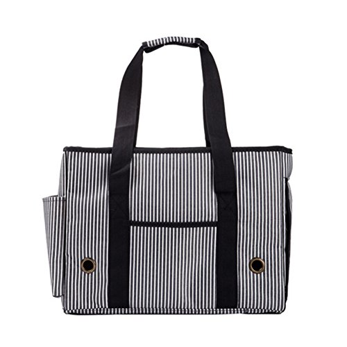 BUYITNOW Portable Strip Pet Carrier Purse Travel Soft Sided Oxford Tote Shoulder Hand Bag for Small Medium Large Dogs and Cats by BUYITNOW (Image #6)