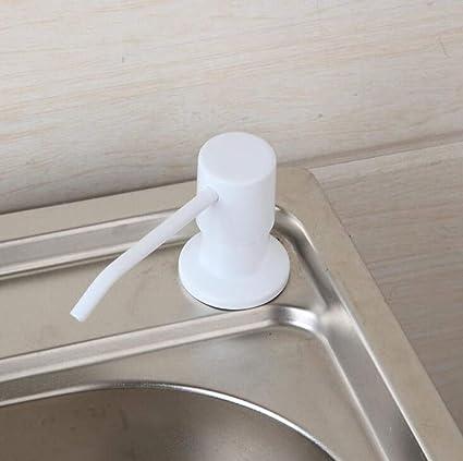 Leohome Bomba de acero inoxidable para dispensadores de jabón de 400 ml de cocina terminada para