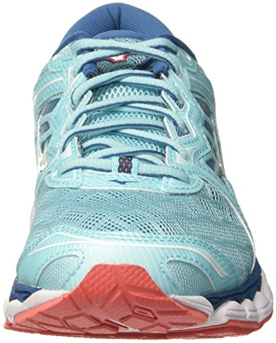 Aquasplash Multicolor de Wave Zapatillas Sky para Hotcoral 01 Wos Mujer White Running Mizuno Bw8q6TzB