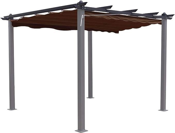 habitatetjardin Tela para la pergola Monica - 3 x 3 m - Topo: Amazon.es: Jardín