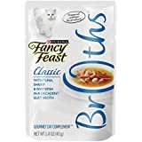 Purina Fancy Feast Broths Classic With Tuna Shrimp & Whitefish in a Decadent Silky Broth Adult Wet Cat Food Complement - (16) 1.4 oz. Pouches