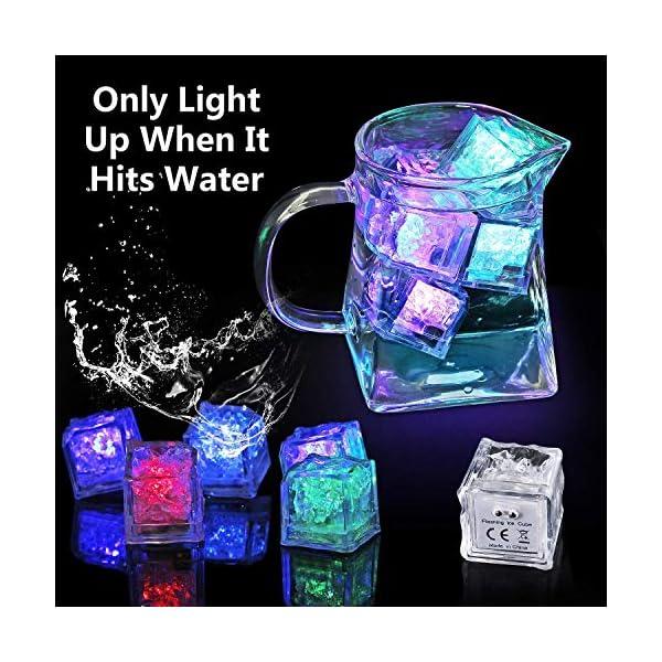 12 Pezzi Luminous ice,Xrten Cubo Ghiaccio LED Ice Cube Adatto per Bar, Balli, Ricevimenti, Feste, Matrimonio 3 spesavip