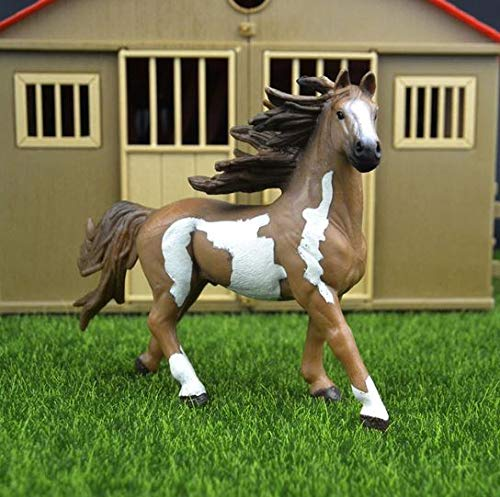 - MJ Riches Animals Appaloosa Harvard Hannover Clydesdale Quarter Arabian Horse Collection Farm Stable Figure Model Kids Toy
