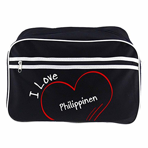 Retro Love Negro Bandolera Bolso I Filipinas Colour wqzxEn7IZ