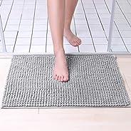 Tapete De Banheiro Antiderrapante Bolinha Microfibra 60x40cm (Cinza Claro)