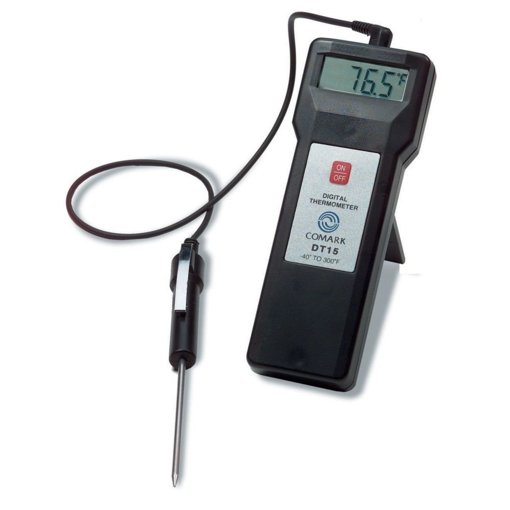 Comark DT15 Economical Thermistor Thermometer With Probe And Case