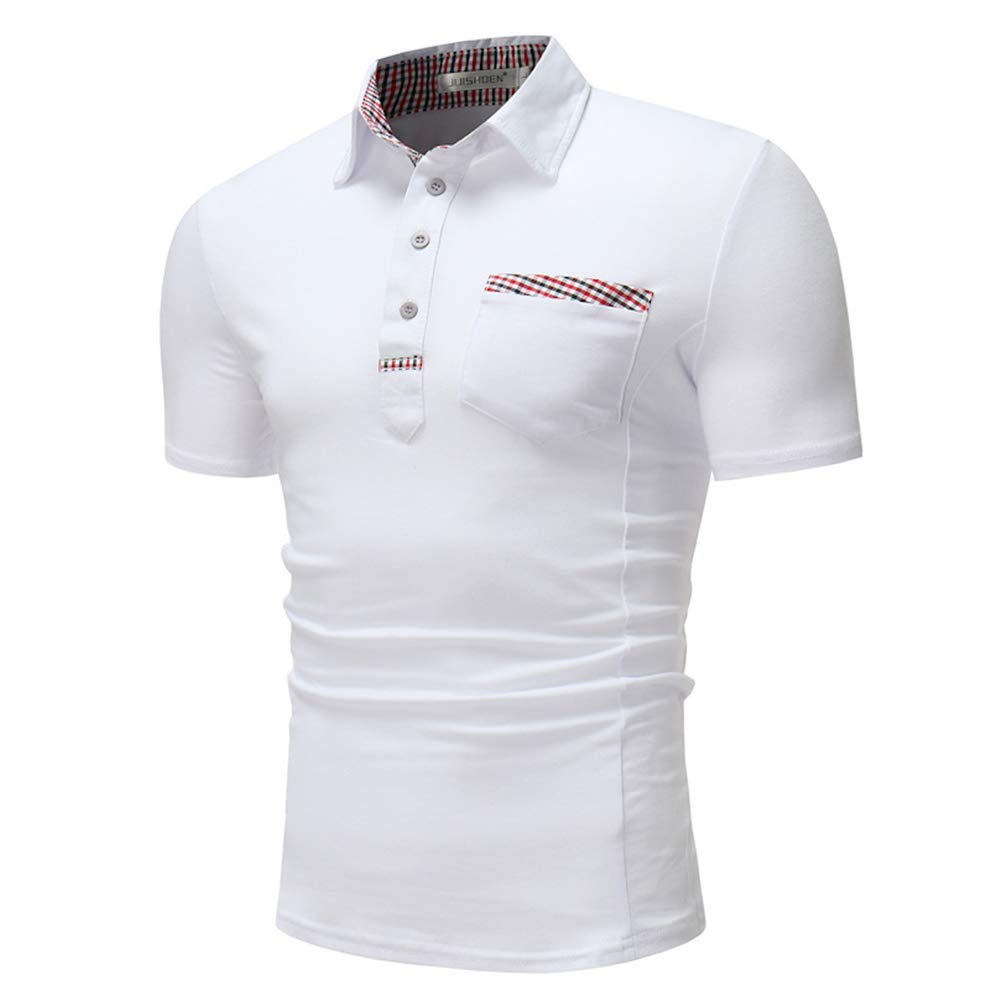 XXL RMane Herren Polo Shirt Basic Polohemden Kurzarm Slim Fit M