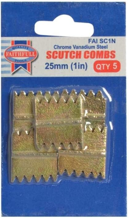 Scutch Combs 38mm Pack 5 FAITHFULL