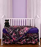Carstens Muddy Girl Camo 3 Piece Crib Sheet Set, Purple