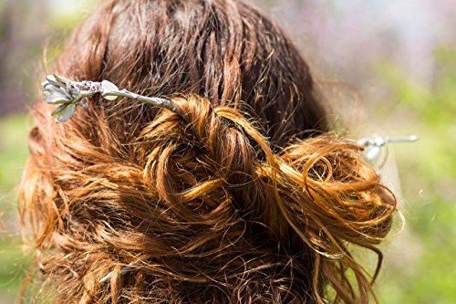 Dryad Halloween Costume (Morea's Dryad Hairsticks (Celtic, Viking, Bridal, Boho, Festival, Fae, Fantasy, Renaissance Costume, Gift, New Age, New Year, Greek))