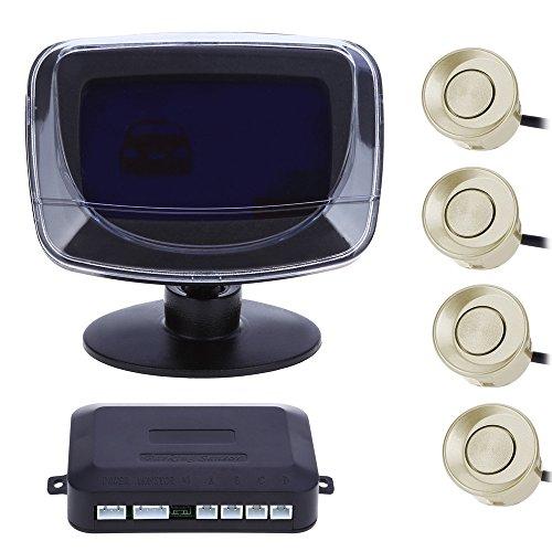 4 Parking Sensor English Voice Car Alarm Auto Reversing Detector Digital LCD Display and Step-up Alarm Monitor System