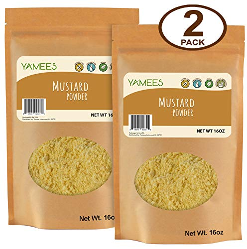 Yamees Mustard Powder - Ground Mustard - Mustard Seed Powder - Dry Yellow Mustard - Bulk Spices - 2 Pack of 16 Ounce Bags