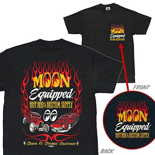 Mサイズ MOONEYES Tシャツ ムーンアイズ MOON Equipped ホットロッド カスタム サプライ Tシャツ eyes hot rod 黒 ブラックの商品画像