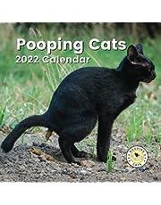 Pooping Cats Calendar 2022: Funny Animal Lover Gag Joke Gift for Women, Men, Teens | Great for Birthday, White Elephant Party, Secret Santa, Exchange, Stocking Filler or Stuffer, Christmas