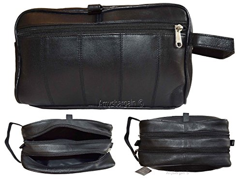 Man's Grooming Bag. Leather Cosmetic Bag Man's Bag Carry on Bag Toiletry case BN -