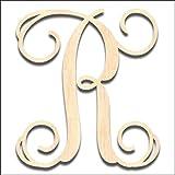 wood letter r - Back40Life Laser Cut Vine Wood Monogram Letter - 6-inch unfinished R